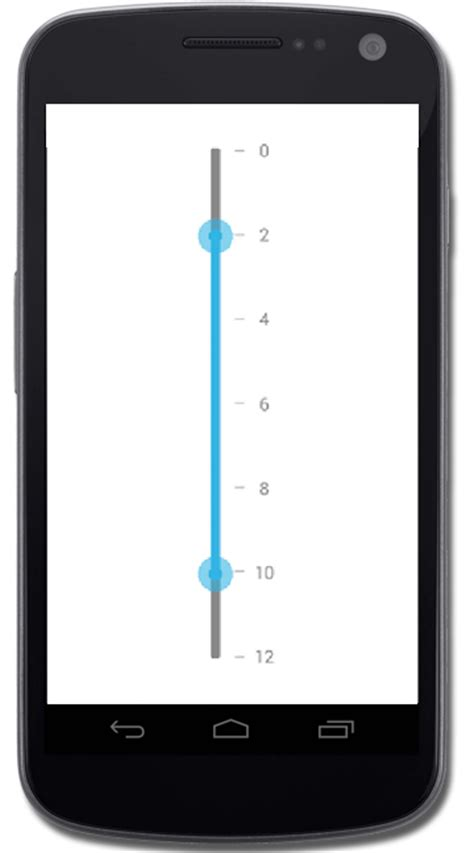 android slider rangeslider for xamarin android syncfusion