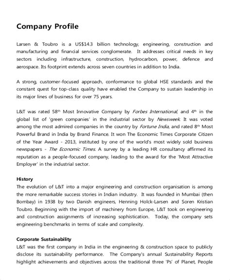 Industry Descriptions 9 company description exles free premium templates