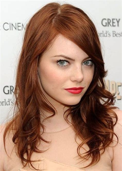 emma stones hair stylist tells us how to get her effed 25 celebrities that rock auburn hair circletrest