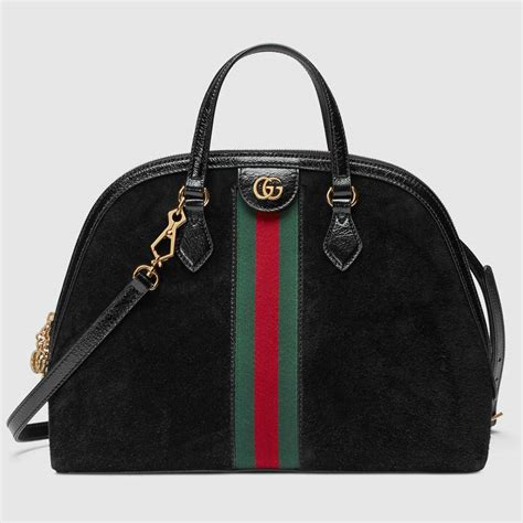 Gucci Positano Medium Top Handle Bag In Black by Gucci Pre Fall 2018 Bag Collection With New Wicker Bags
