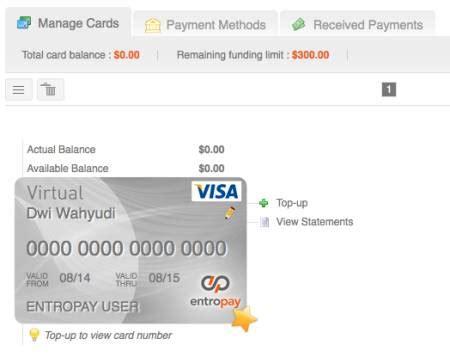 Pembuatan Kartu Kredit Mudah | entropay cara membuat kartu kredit virtual gratis