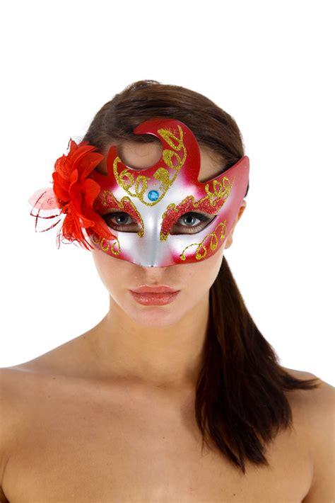 Masker Shop venetiaans gezichtsmasker faust rood