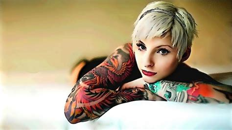 tattoo girl image hd tattoo model wallpaper 1600x900 7836