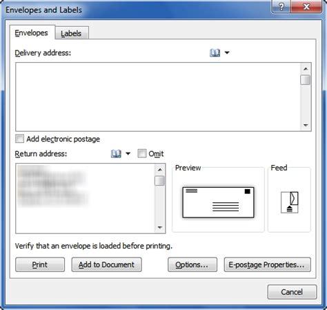 Envelope Address Printing Template Invitation Template Envelope Return Address Template