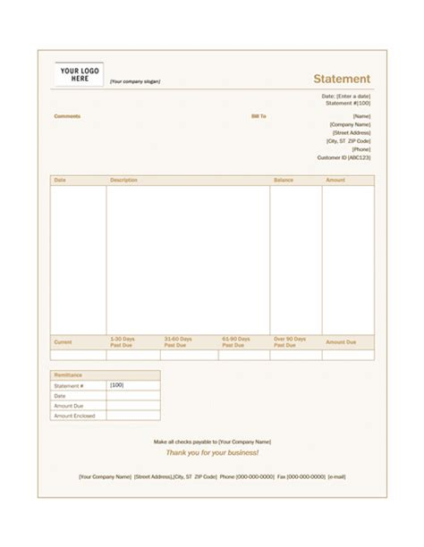 billing statement sienna design statements templates