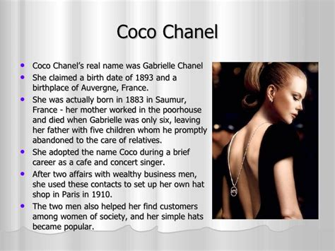 coco chanel business biography chanel presentation business