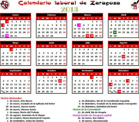 Calendario Escolar Aragon 2013 14 Gatos Sindicales Zaragoza Calendario Laboral 2013 Zaragoza
