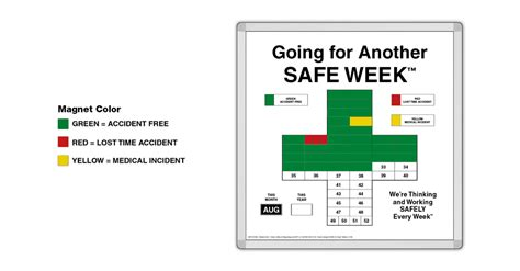 safety calendar template magnetic safetycross 174 safety awareness motivational system