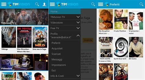 film gratis timvision timvision l app ufficiale tim si aggiorna alla versione 5