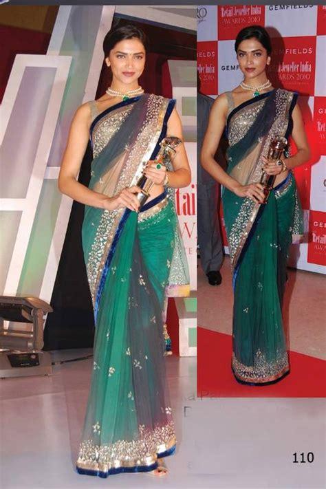 deepika padukone green choker buy deepika padukone bollywood replica saree online
