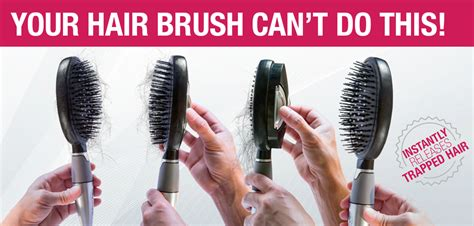 Cleaning Hair From by Self Cleaning Hair Brush Easy Clean
