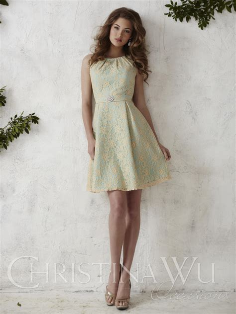 Wed To Be Dresses by Wu Occasions 22679 Lace Satin Bridesmaid