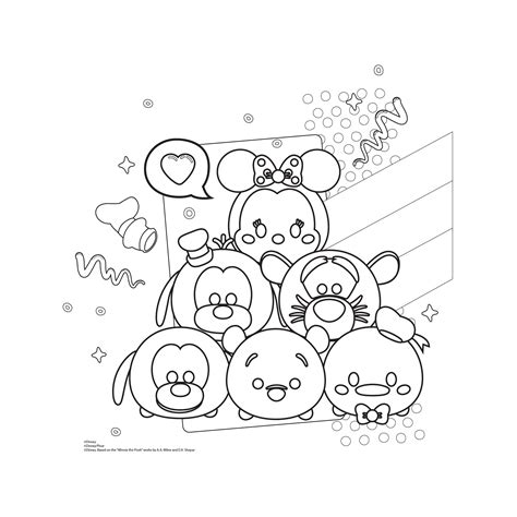 Tsum Tsum New tsum tsum coloring pages free coloring books