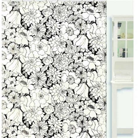 black and white flower shower curtain black and white shower curtain