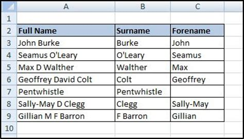 given name vs surname computer basics for free excel manipulating text with