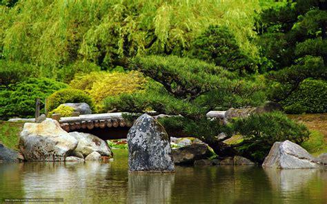 Download Wallpaper Japanese Garden Japan Bridge Stone Desktop Rock Garden
