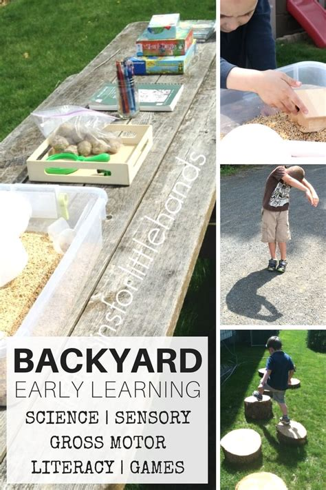 backyard science games backyard activities for nature science sensory play and