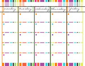 monday friday calendar template 7 best images of monday through friday calendar printable