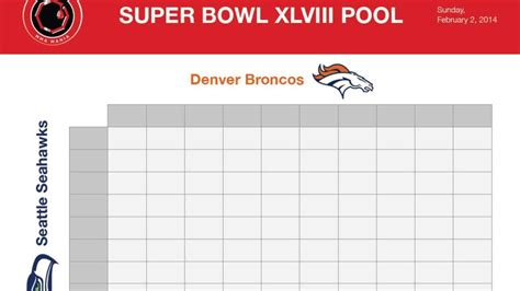 super bowl spreadsheet template spreadsheet templates for