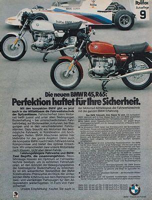 Ebay Motorrad Oldtimer Bmw R45 65 by Bmw R 45 R 65 Reklame Werbeanzeige Original Werbung