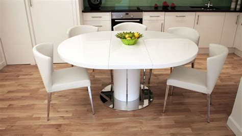 Modern Glass Dining Room Table by Round White Gloss Extending Dining Table Pedestal