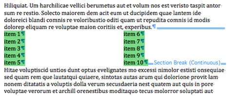 microsoft word two column layout betalogue 187 pages 09 export as word and layout breaks