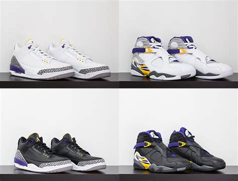 Lakers Retro White air 3 8 pack lakers white release date sneakerfiles