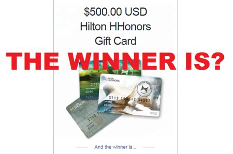 500 Gift Card Giveaway - and the winner of the 500 hilton gift card giveaway is loyaltylobby