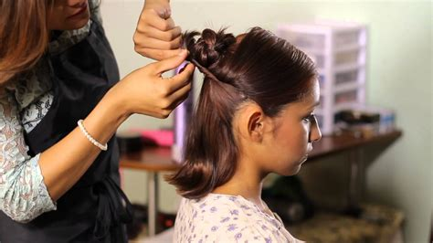 how short can hair be to get sew ins how to make a bun with short hair tress to impress youtube