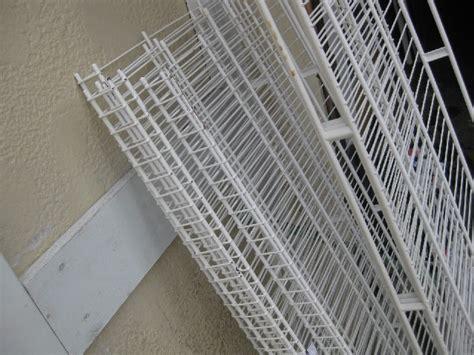 rowan shelving lot rowan wire shelving epoxy coated white used ebay