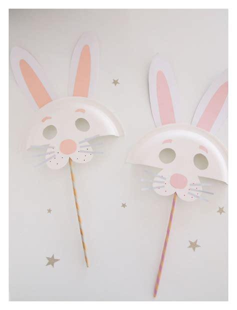 easter crafts paper plates easter bunny diy paper plate animal masks easter