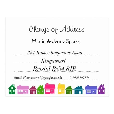 change of address card template word change of address postcard zazzle