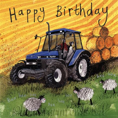 Tractor Birthday Card Blue Tractor Birthday Card Home Farm Fowls