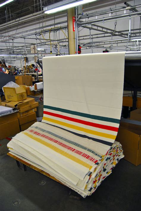 Pendleton Hudson Bay Blanket by Pendleton Woolen Mills Factory Tour