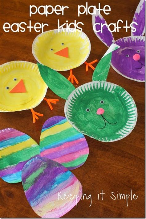 Paper Plate Easter Crafts - bunny projects roundup made to be a momma