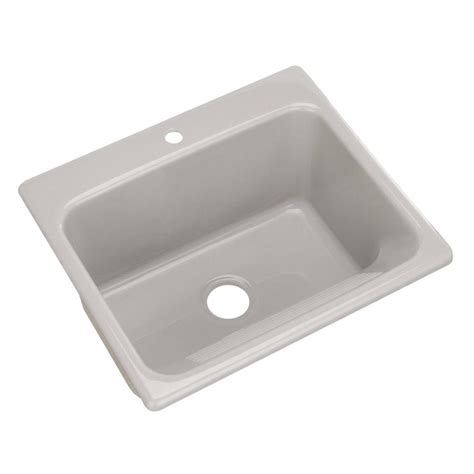 drop in utility sink thermocast kensington drop in acrylic 25 in 1 hole single