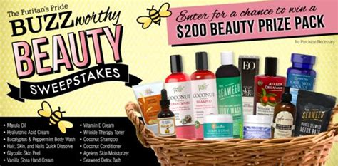 Puritan S Pride Sweepstakes - puritan s pride buzzworthy beauty sweepstakes