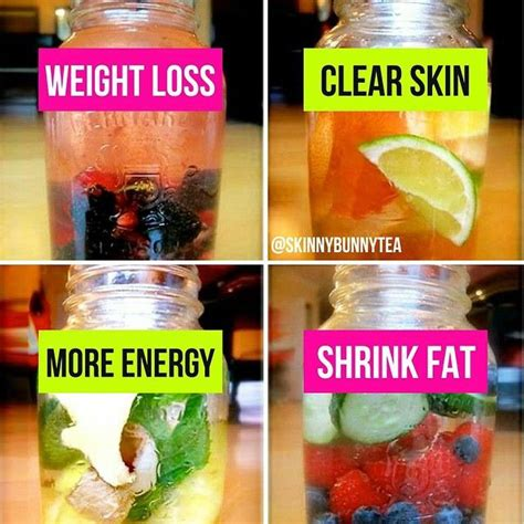 Detox Secrete Fats From Skin by 4 Different Detox Flavours To Help Shrink Cells Gain