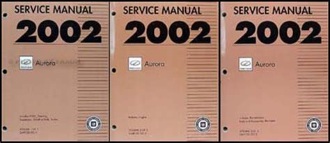 how to download repair manuals 1998 oldsmobile aurora instrument cluster 2002 olds aurora repair shop manual original 3 volume set