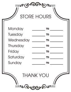 Business Hours Sign Template Template Business Opening Hours Letter Template