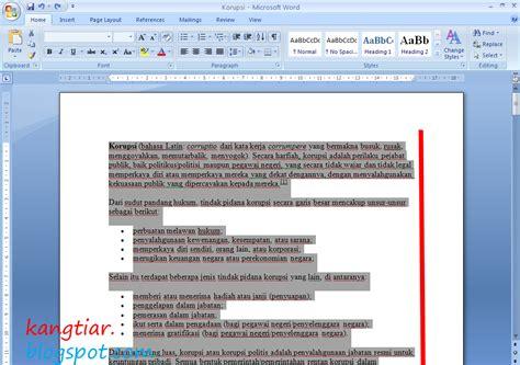 cara membuat footnote rata kiri kang tiar cara membuat kalimat rata kanan kiri pada word 2007