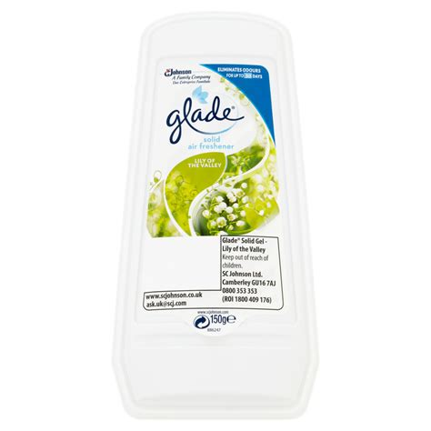 buy uk glade solid air freshener of the valley 150g at wilko
