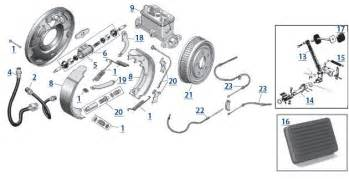 Drum Brake System Parts Cylinder Engine Parts Exploded View Diagram Car Pictures