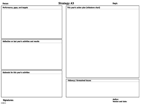 a3 word template a3 strategy form from getting the right things done