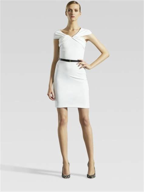 gucci belted dress in white lyst