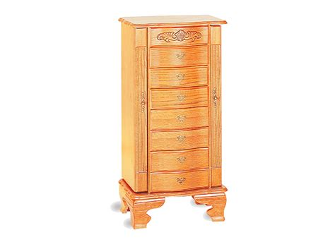 oak jewelry armoire light oak deluxe jewelry armoire jewelry armoires