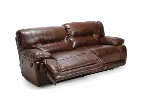 reclining leather couch cheers leather dual reclining sofa u8557 l3 2m