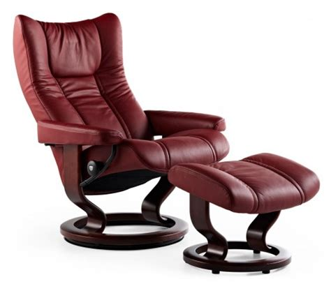 stress free recliner reviews stressless wing classic recliner ottoman from 1 995 00