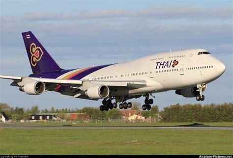 thai airways hs tgf thai airways boeing 747 400 at copenhagen kastrup