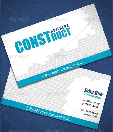 excavating business card templates 7 construction business cards psd eps free premium